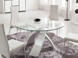 Table salle manger rond design large choix table salle for Table salle manger ronde extensible design