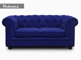 Chesterfield 2 places bleu