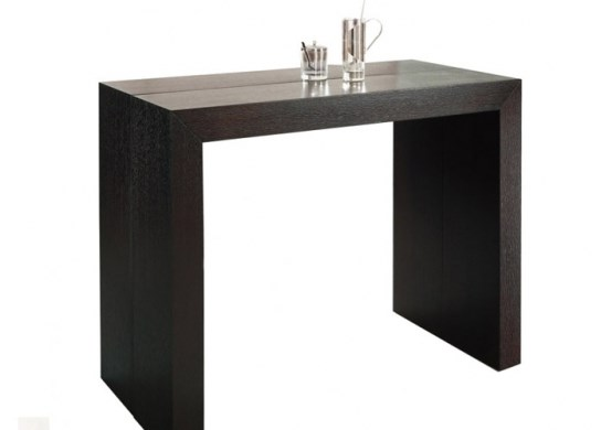 Table console Naspace bois wengé - 3 rallonges