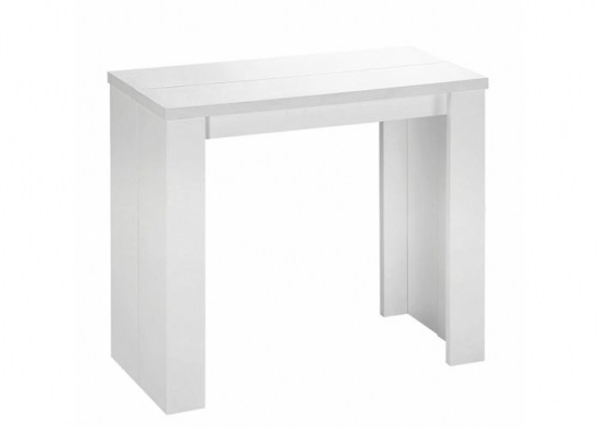 Table console Brookspace blanche - 3 rallonges