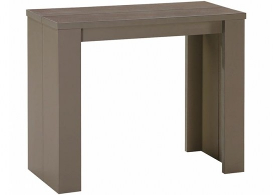 Table console Brookspace taupe - 3 rallonges