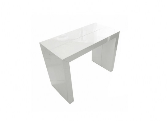 Table console Naspace XL blanche - 4 rallonges