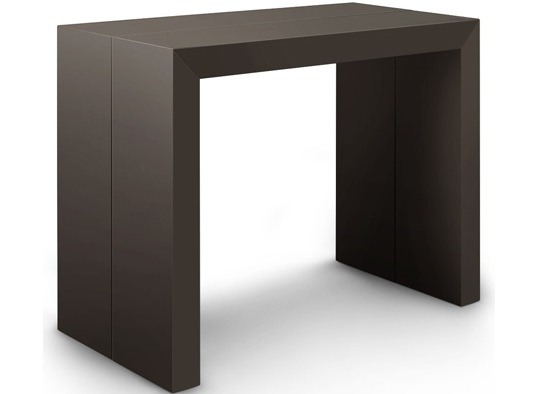 Table console Naspace gris carbone - 3 rallonges