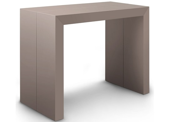 Table console Naspace taupe - 3 rallonges
