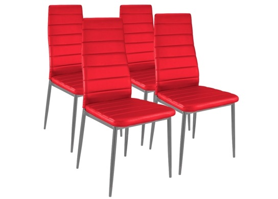 Chaise moderne rouge for Chaise design rouge