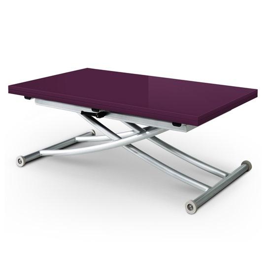 table basse relevable carrel violet. Black Bedroom Furniture Sets. Home Design Ideas