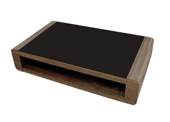 En bois et plateau en verre