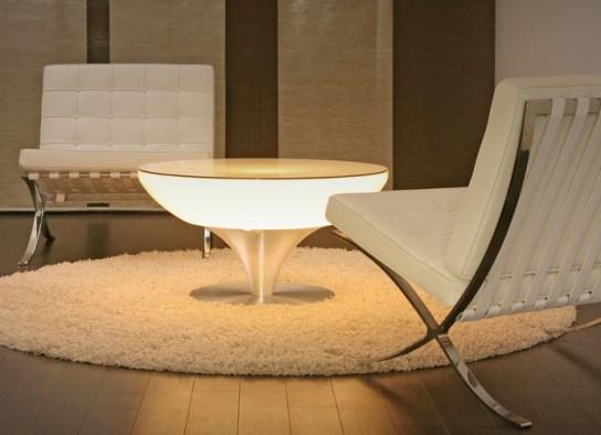 Table basse lumineuse 45 d'intérieur