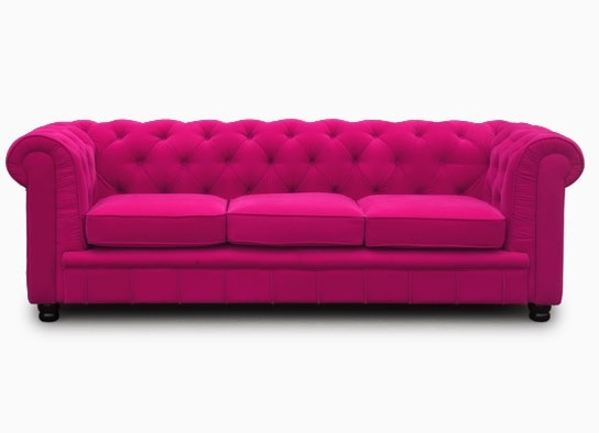 Canapé Chesterfield 3 places en velours