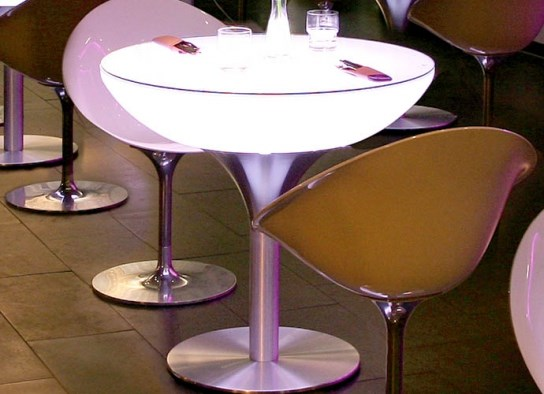 Table haute lumineuse 75 Outdoor