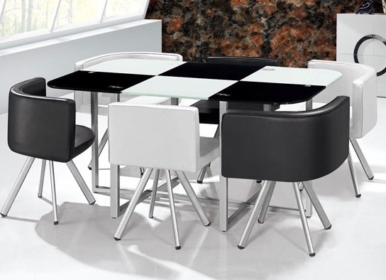 Table De Salle A Manger Gain De Place Of Table Damier Xl Bicolore