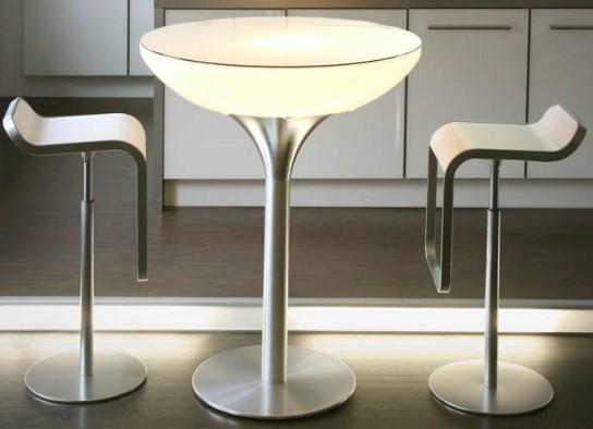Table haute lounge 105 lumineuse Indoor