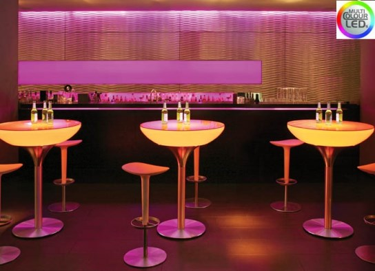 Table haute lounge 105 � LED