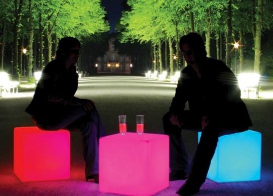 Cube lumineux pour un usage extérieur