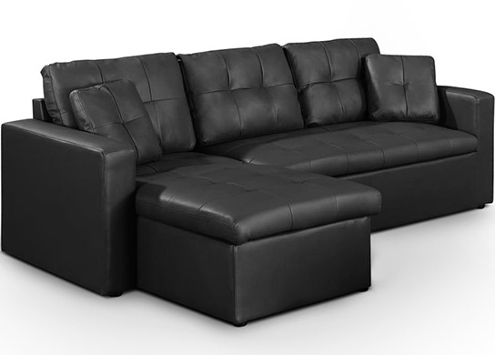 Canapé d'angle convertible Arena Noir