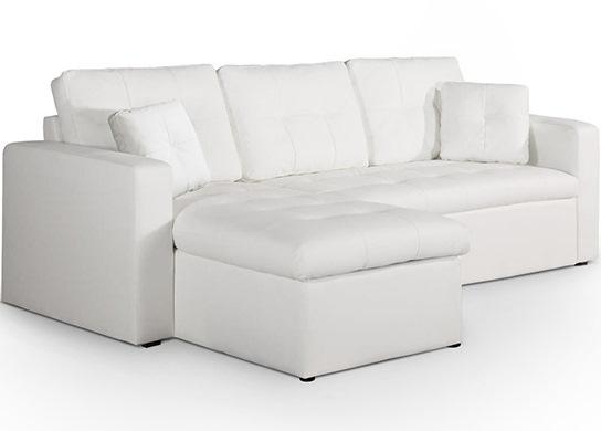Canapé d'angle convertible Arena Blanc