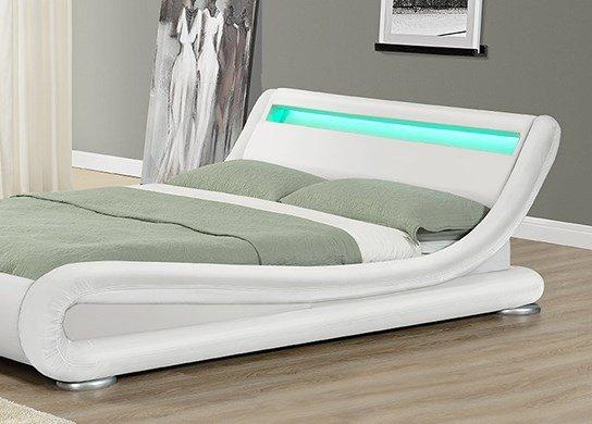 Lit moderne avec éclairage LED intégré 4 couleurs disponibles