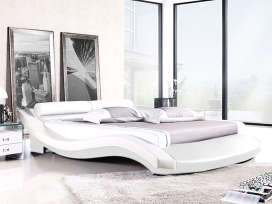 lit design karina 160cm blanc. Black Bedroom Furniture Sets. Home Design Ideas