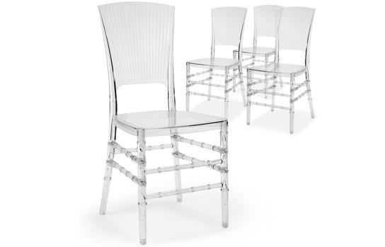 Chaises design en PVC