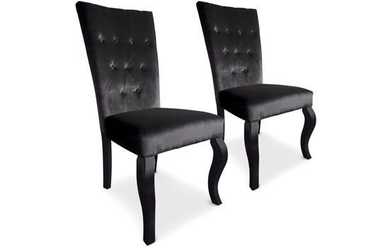 chaises elisabeth vendu par 2 noir. Black Bedroom Furniture Sets. Home Design Ideas