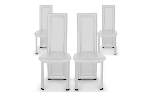 4 chaises de salle à manger modernes