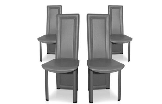 4 chaises de salle � manger modernes