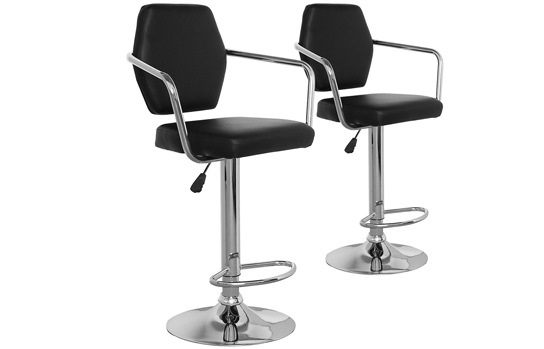 LOT DE 2 CHAISES DE BAR