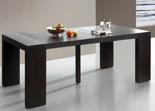 Table console Naspace XL bois wengé - 4 rallonges