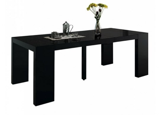 Table console Naspace XL noire - 4 rallonges
