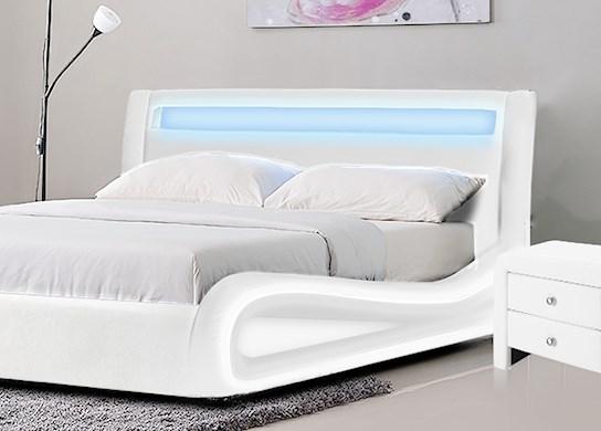 Lit LED avec t�l�commande et un sommier � lattes