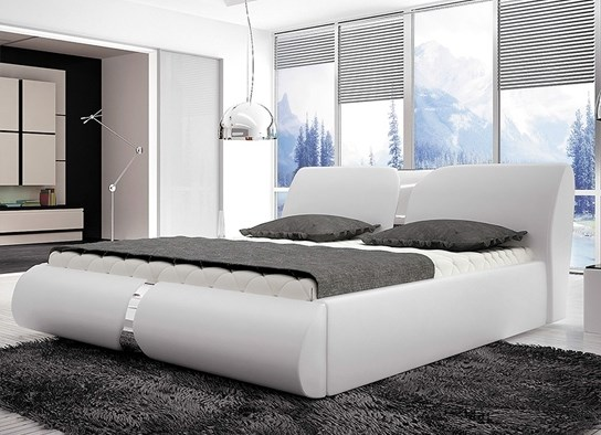 lit design viva blanc 180x200. Black Bedroom Furniture Sets. Home Design Ideas