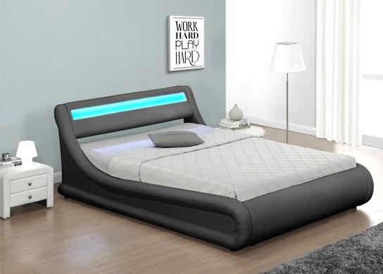 lit design julia noir avec coffre 140 cm. Black Bedroom Furniture Sets. Home Design Ideas