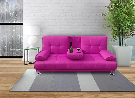 convertible canbar rose en tissu. Black Bedroom Furniture Sets. Home Design Ideas