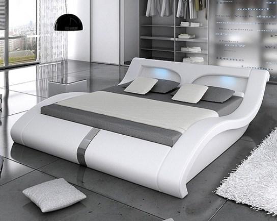 Lit led design pacific ii blanc 140 cm - Led pour lit ...